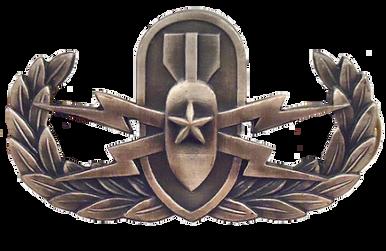 Navy Badge: Senior Explosive Ordnance Disposal - regulation, oxidized