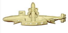 Navy Badge: SSBN Submarine Deterrent Patrol - regulation size, 24k gold