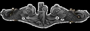 Navy Badge: Submarine Enlisted - regulation size, oxidized