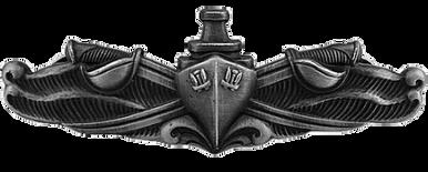 Navy Badge: Surface Warfare Enlisted - regulation size, oxidized