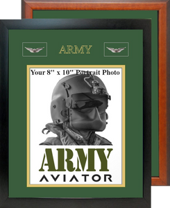"12"" x 15"" Army Breast Badge Portrait Photo Frame"