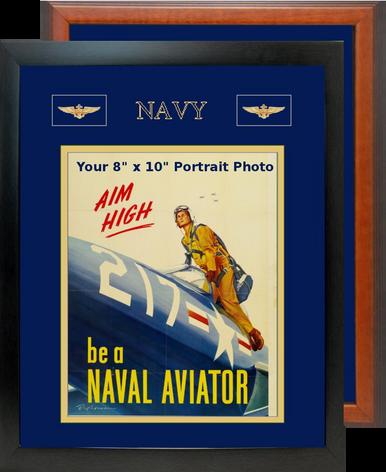 "12"" x 15"" Navy Breast Badges Portrait Photo Frame"