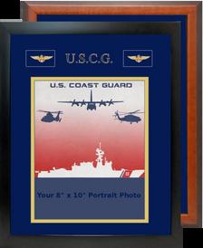 "12"" x 15"" Coast Guard Breast Badges Portrait Photo Frame"