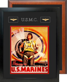"12"" x 15"" Marine Corps Breast Badges Portrait Photo Frame"
