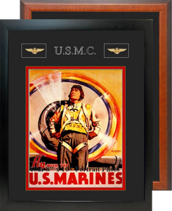 "12"" x 15"" Marine Corps Breast Badges Portrait Photo Frame"
