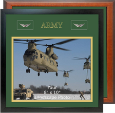 "13"" x 13"" Army Breast Badges Landscape Photo Frame"