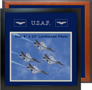 "13"" x 13"" Air Force Breast Badges Landscape Photo Frame"