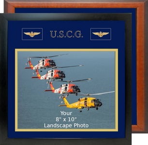 "13"" x 13"" Coast Guard Breast Badges Landscape Photo Frame"