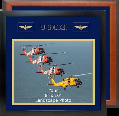 "13"" x 13"" Coast Guard Breast Badges Landscape Photo Frame"