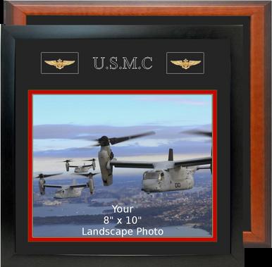 "13"" x 13"" Marine Corps Breast Badges Landscape Photo Frame"