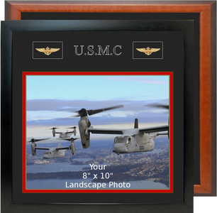 "13"" x 13"" Marine Corps Breast Badges Landscape Photo Frame"