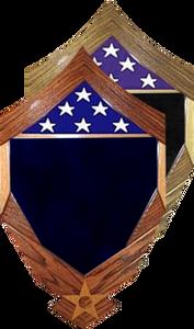 SMSgt Stripes over Air Force Logo Shadow Box w/ 3' x 5' Flag Window