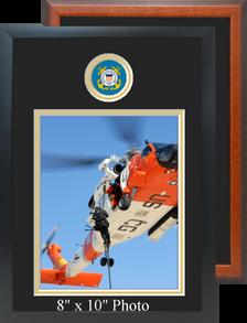 "11"" x 16"" Coast Guard Photo Frame w/ Top Seal"
