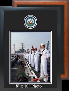 "11"" x 16"" Navy Photo Frame w/ Top Seal"