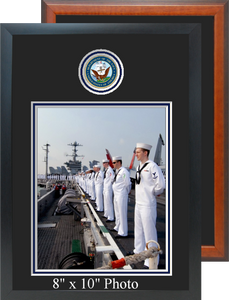 "11"" x 16"" Navy Photo Frame w/ Top Seal"