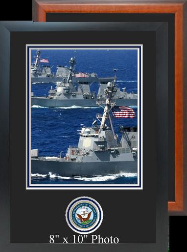 "11"" x 16"" Navy Photo Frame w/ Bottom Seal"