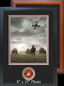 "11"" x 16"" Marine Corps Photo Frame w/ Bottom Seal"