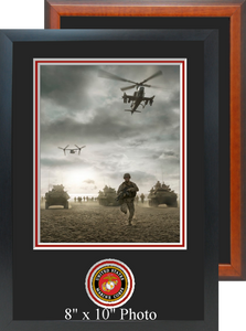 "11"" x 16"" Marine Corps Photo Frame w/ Bottom Seal"