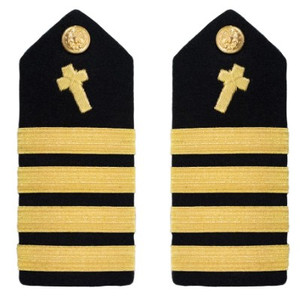 Navy Captain Hard Shoulder Board- Christian Chaplain – female