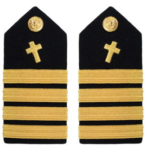 Navy Captain Hard Shoulder Board- Christian Chaplain