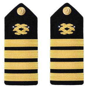 Navy Captain Hard Shoulder Board- Civil Engineer – female