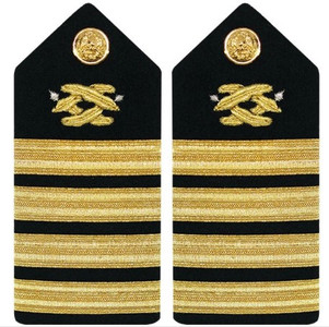Navy Captain Hard Shoulder Board- Civil Engineer
