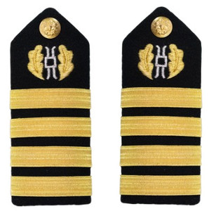 Navy Captain Hard Shoulder Board-  Judge Advocate – female