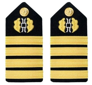Navy Captain Hard Shoulder Board-  Judge Advocate