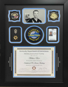 Corrections Training Certificate Shadow Box Display