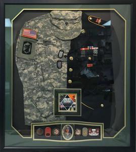 US Army Split Jacket Shadow Box Display
