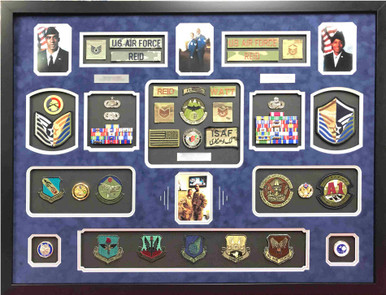 US Air Force Couples Shadow Box Display