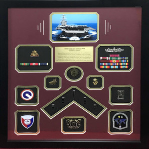US Army Chief Warrant Officer Shadow Box Display