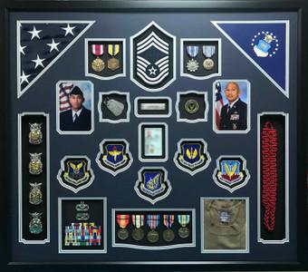 Air Force Dual Flag Shadow Box Display