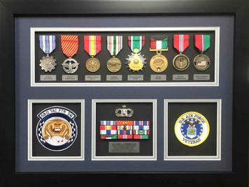 US Air Force Veteran Shadow Box Display