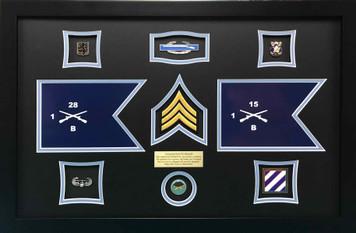 Army Infantry Guidon Shadow Box Display