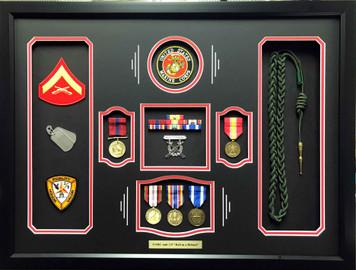 US Marine Corps 2/4 Shadow Box Display
