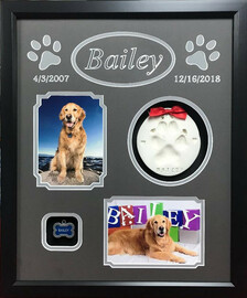 Pet Memorial Shadow Box Display- Bailey