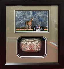 Reserve World Champion Belt Buckle Shadow Box Display