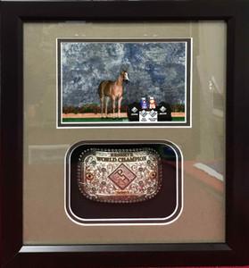 Reserve World Champion Belt Buckle Shadow Box Display