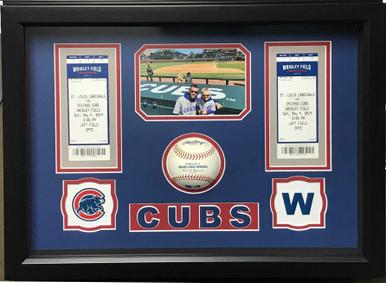 Cub Baseball Memories Shadow Box Display Frame