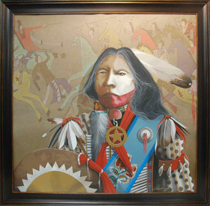American Indian Art Print Frame