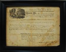 Antique Document Display Frame