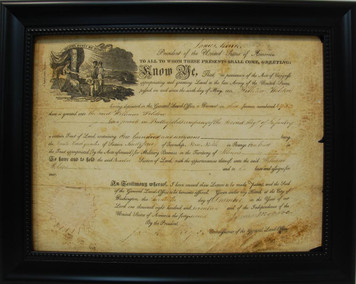 Antique Document Display Frame