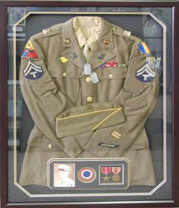 World War II Uniform Display Shadow Box Frame