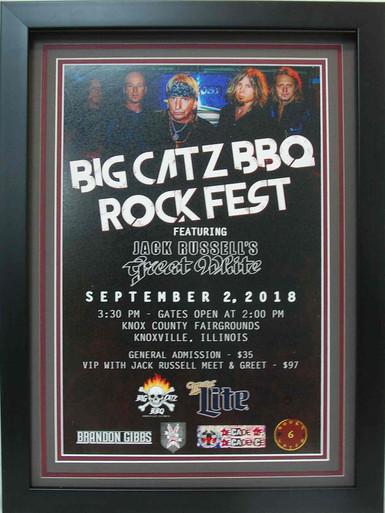 Big Catz BBQ RockFest Poster Frame