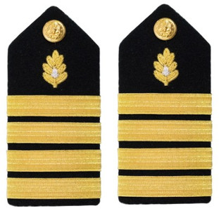 Navy Captain Hard Shoulder Board- Captain Medical Corps