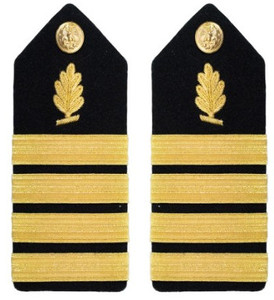 Navy Captain Hard Shoulder Board- Medical Service – female