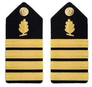Navy Captain Hard Shoulder Board- Medical Service
