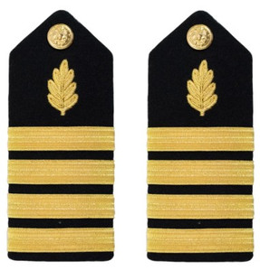 Navy Captain Hard Shoulder Board- Nurse Corps – female