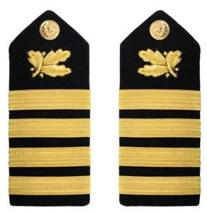Navy Captain Hard Shoulder Board- Supply Corps – female